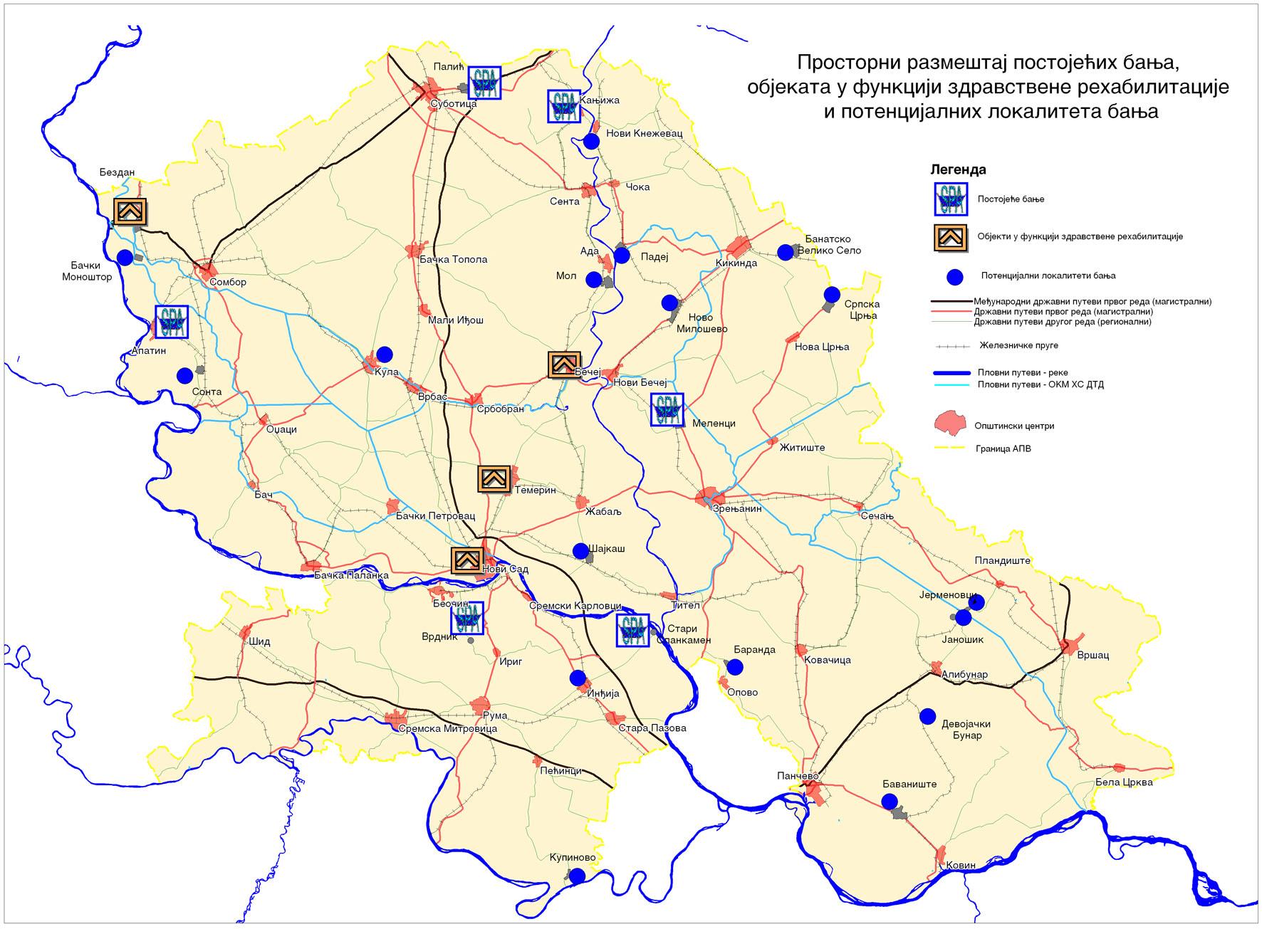 karta vojvodine JP Zavod za urbanizam Vojvodine   Studies karta vojvodine